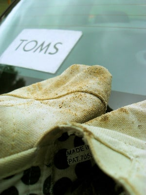 Before cleaning toms