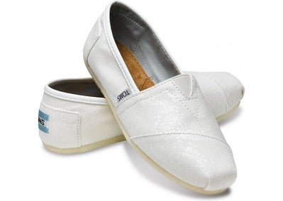 White toms shoes
