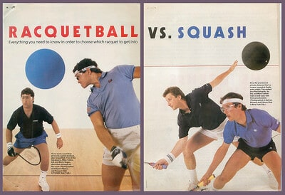racquetball vs squash